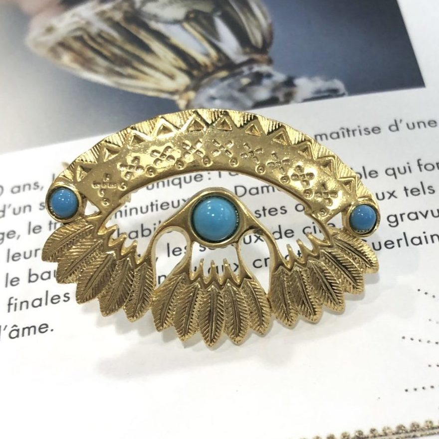 20294 dore cabochon turquoise